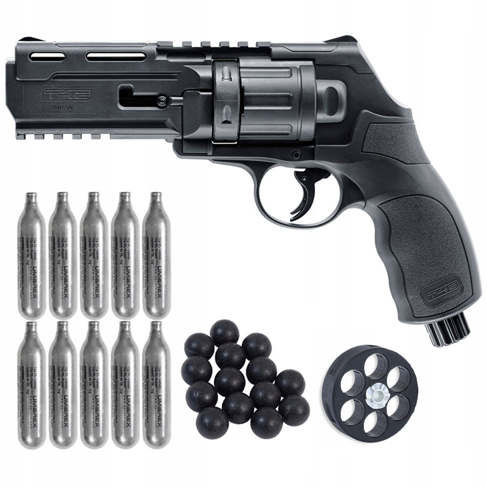 NASTAVIŤ revolver HDR 50 T4E CO2 kazety BULLET cal. 50
