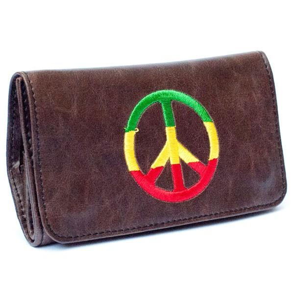 PEACE чехол кожаный мешочек для табака и папиросной бумаги