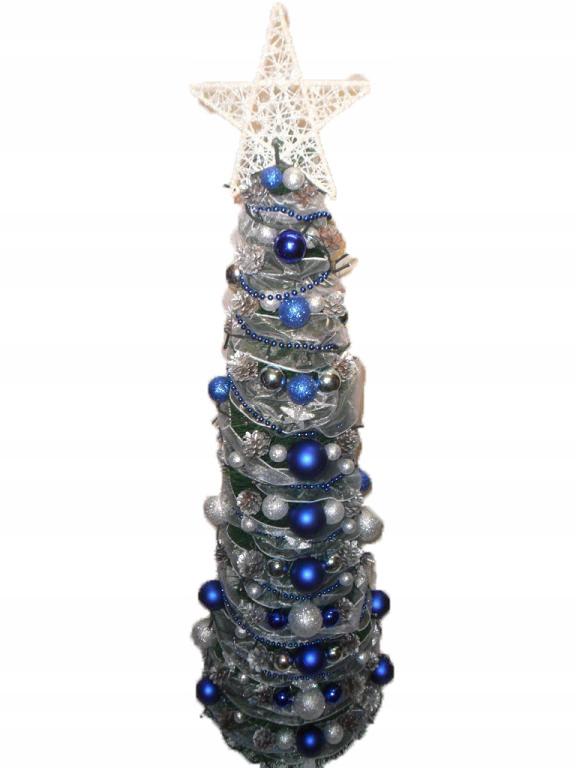 KUŽELOVÝ vianočný stromček s LED dekoráciou a KORÁLKY 160 cm
