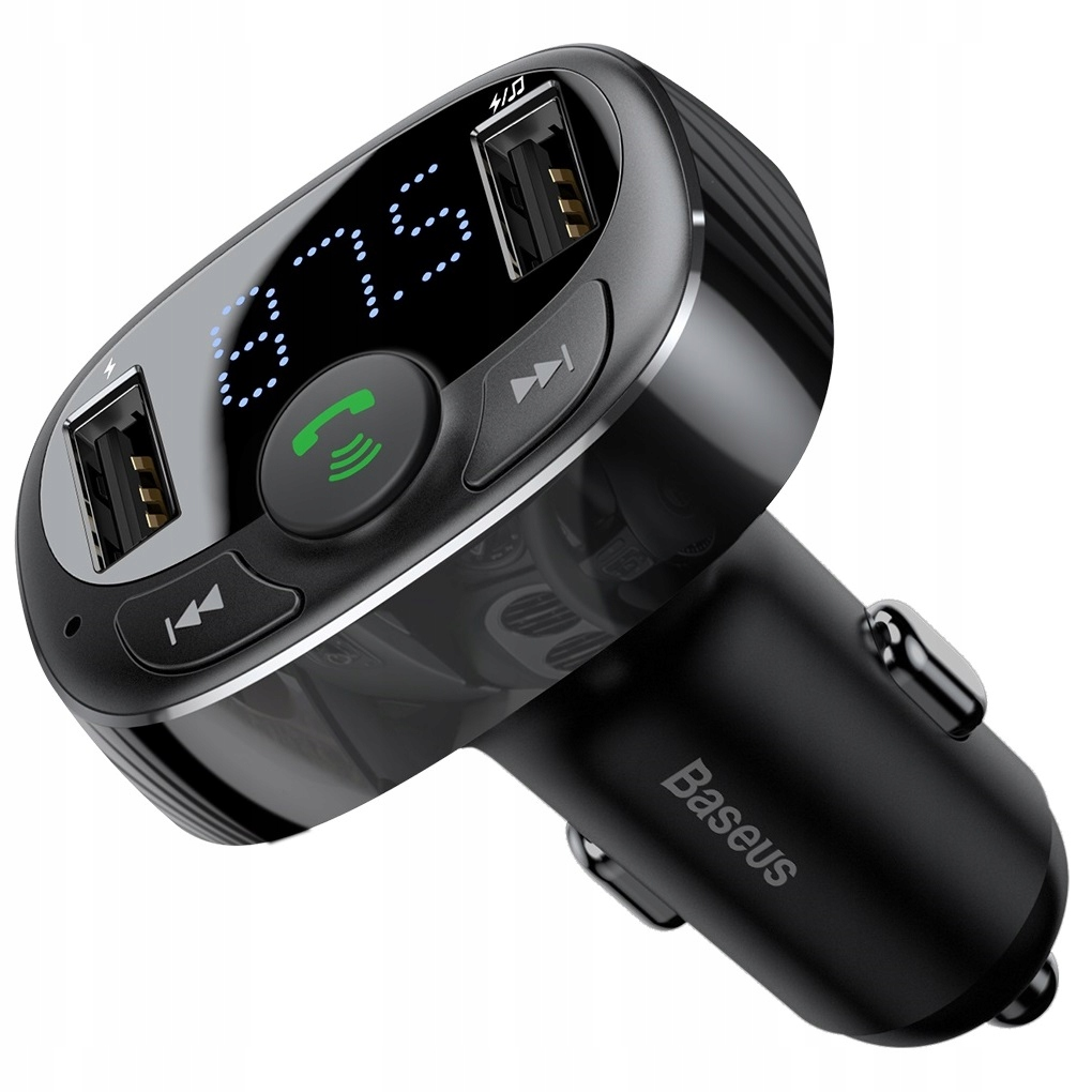 Baseus FM-передатчик Bluetooth MP3 зарядное устройство 2xUSB