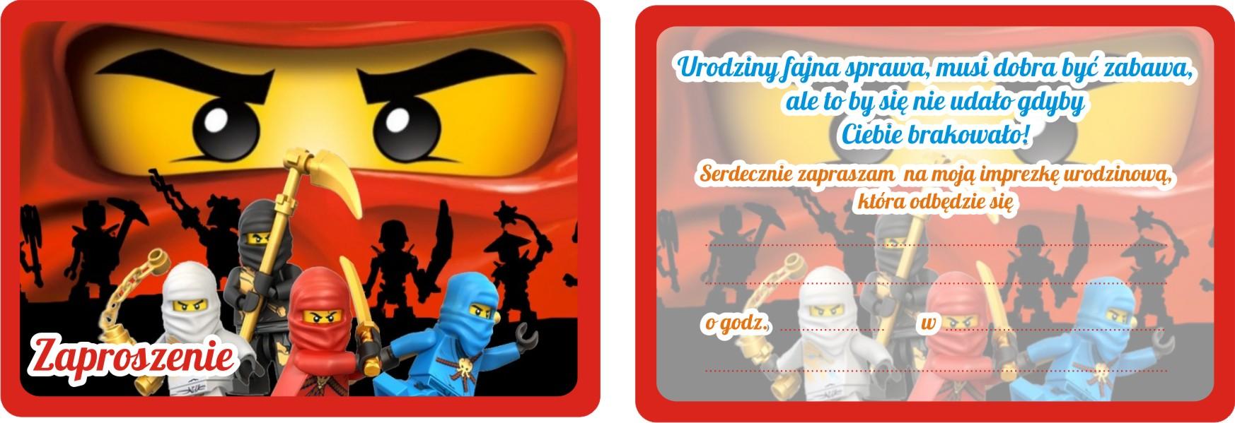 Zaproszenia Urodzinowe Dla Dzieci Lego Ninjago 7528278947 Allegropl