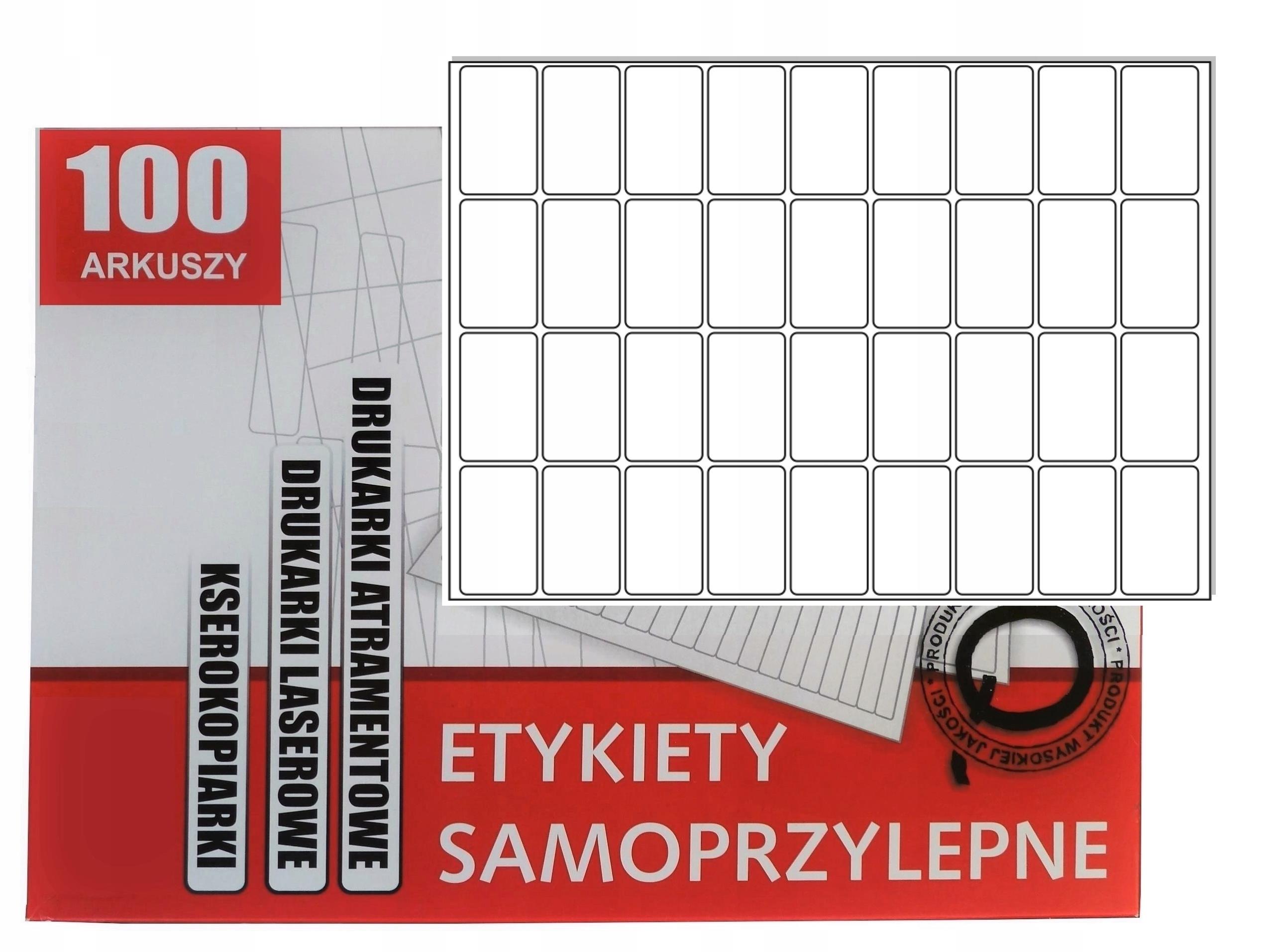 Nálepky 50x30mm štítky A4 biela Čistenie / 100 ARK