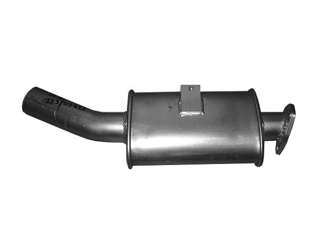 exhaust muffler JCB 3CX 4CX 123/03433