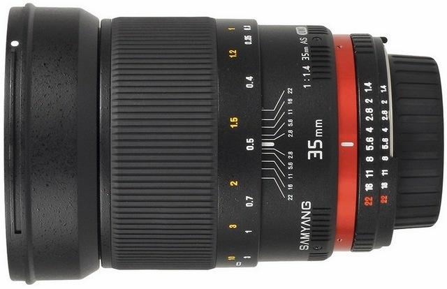 SAMYANG 35 F / 1.4 Ako UMC Manuálne montáž Sony E