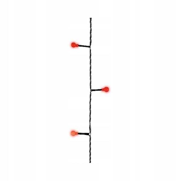 180 LED žiaroviek ext / int červená vianočná [454/494675]