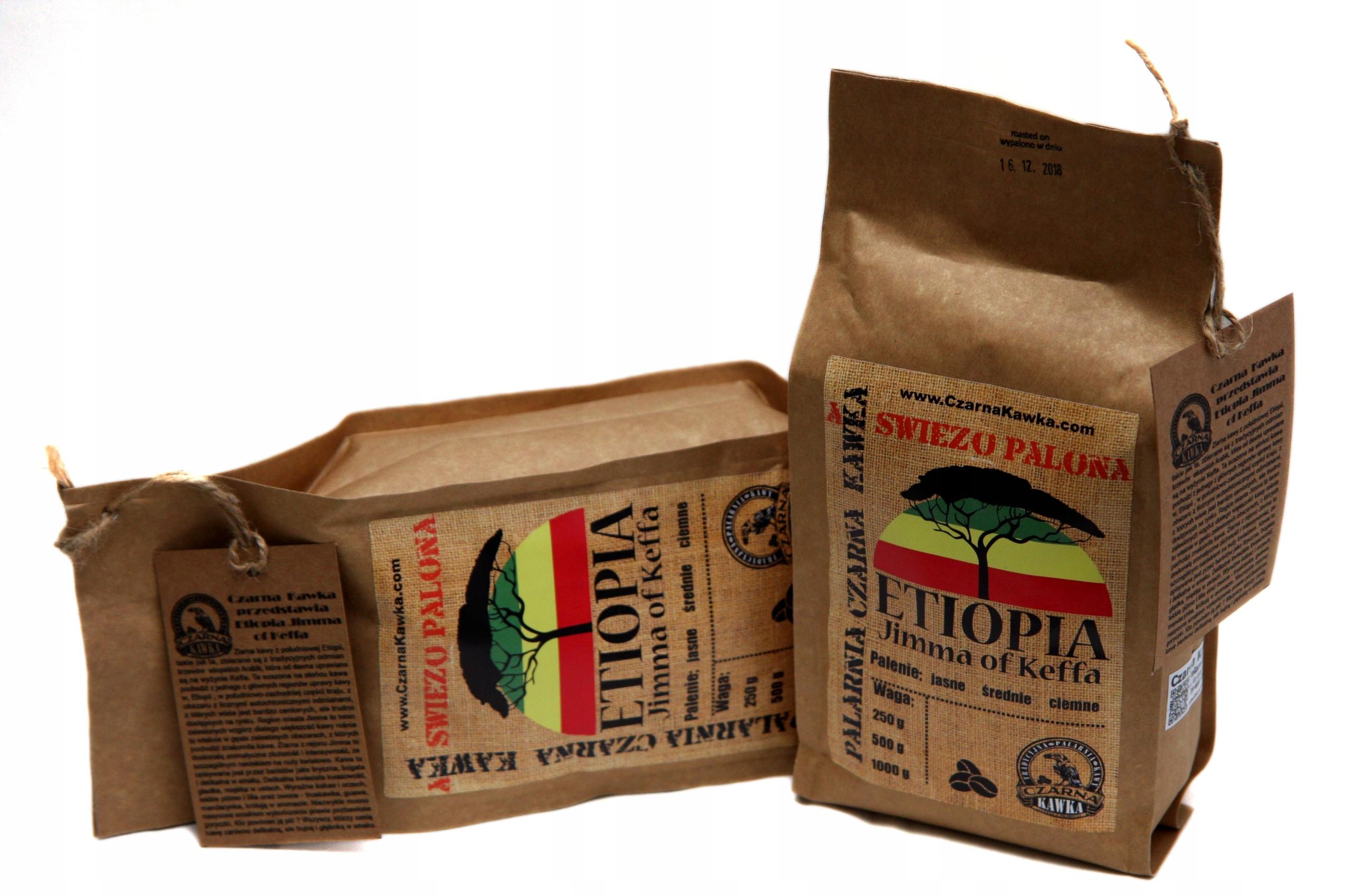 Kawa świeżo palona ETIOPIA Jimma of Keffa AA 1kg Gatunek kawy Arabica