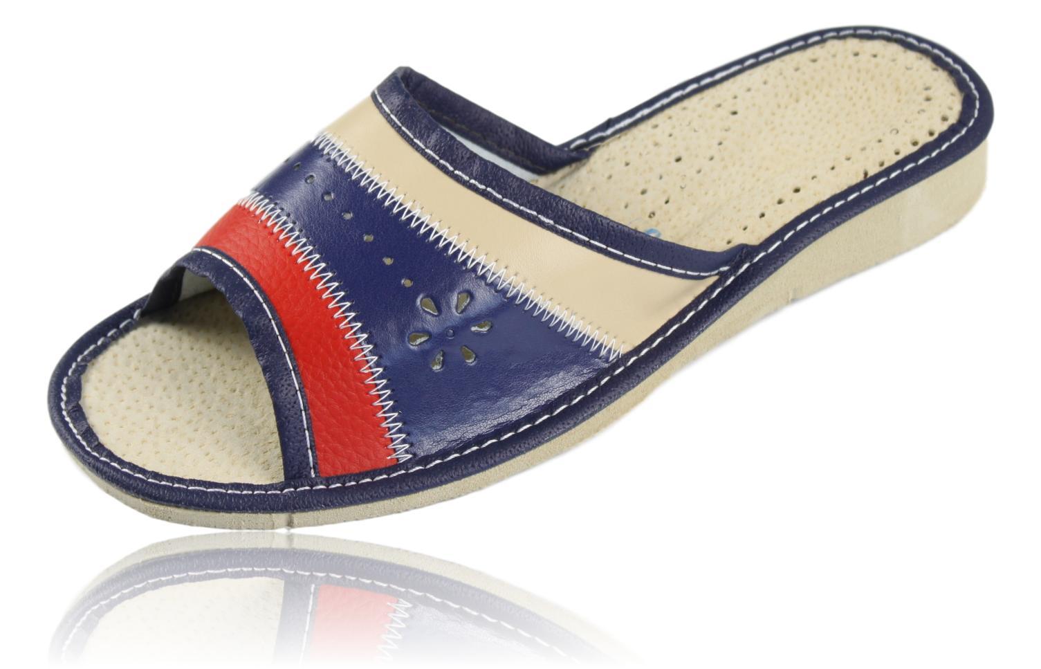Pantofle kapcie klapki damskie skórzane 1148 37