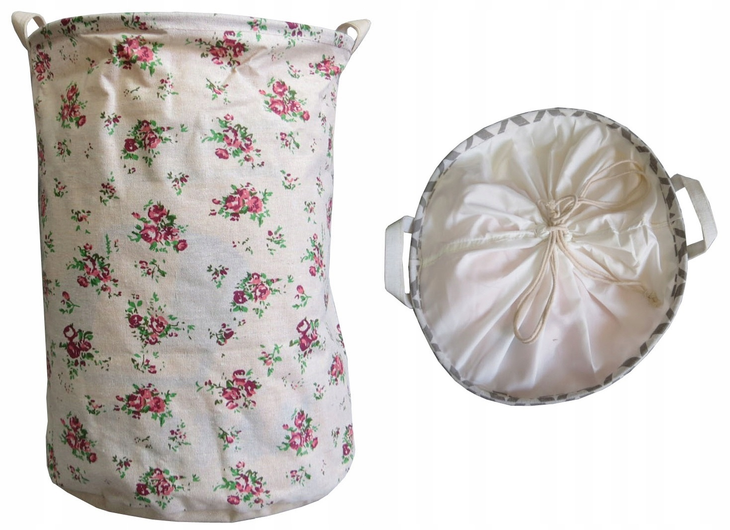 Košík pre Pranie bielizne materiál v Vintage rose