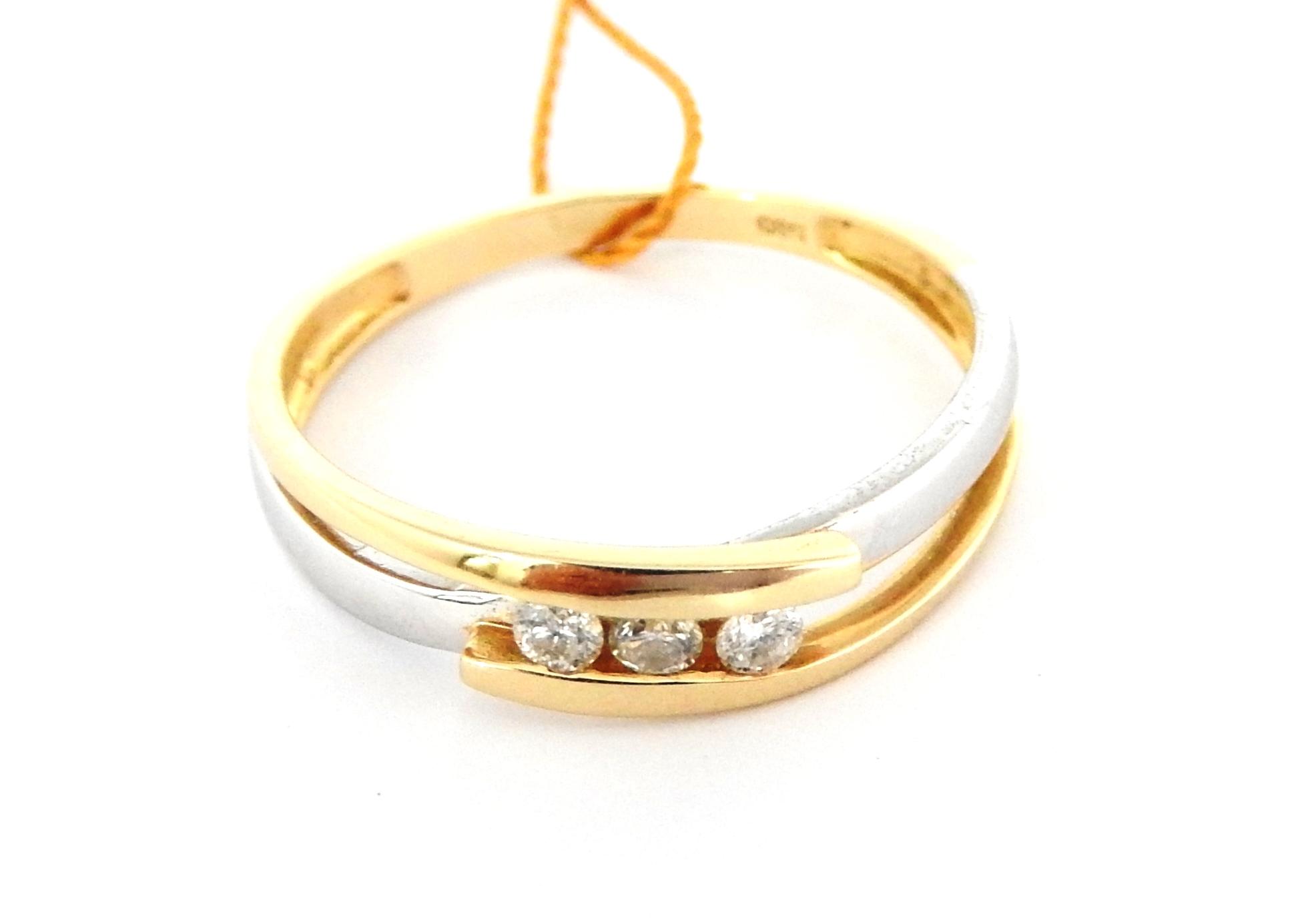 Piękny Złoty Pierścionek Brylanty Verona 585 R 14 7484540642