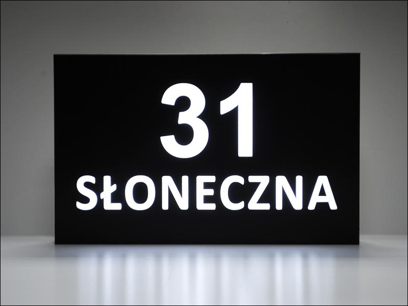Numer na DOM PODŚWIETLANY Tablica adresowa LED
