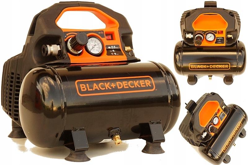 BLACK&DECKER KOMPRESOR SPRĘŻARKA BEZOLEJOWY 6L