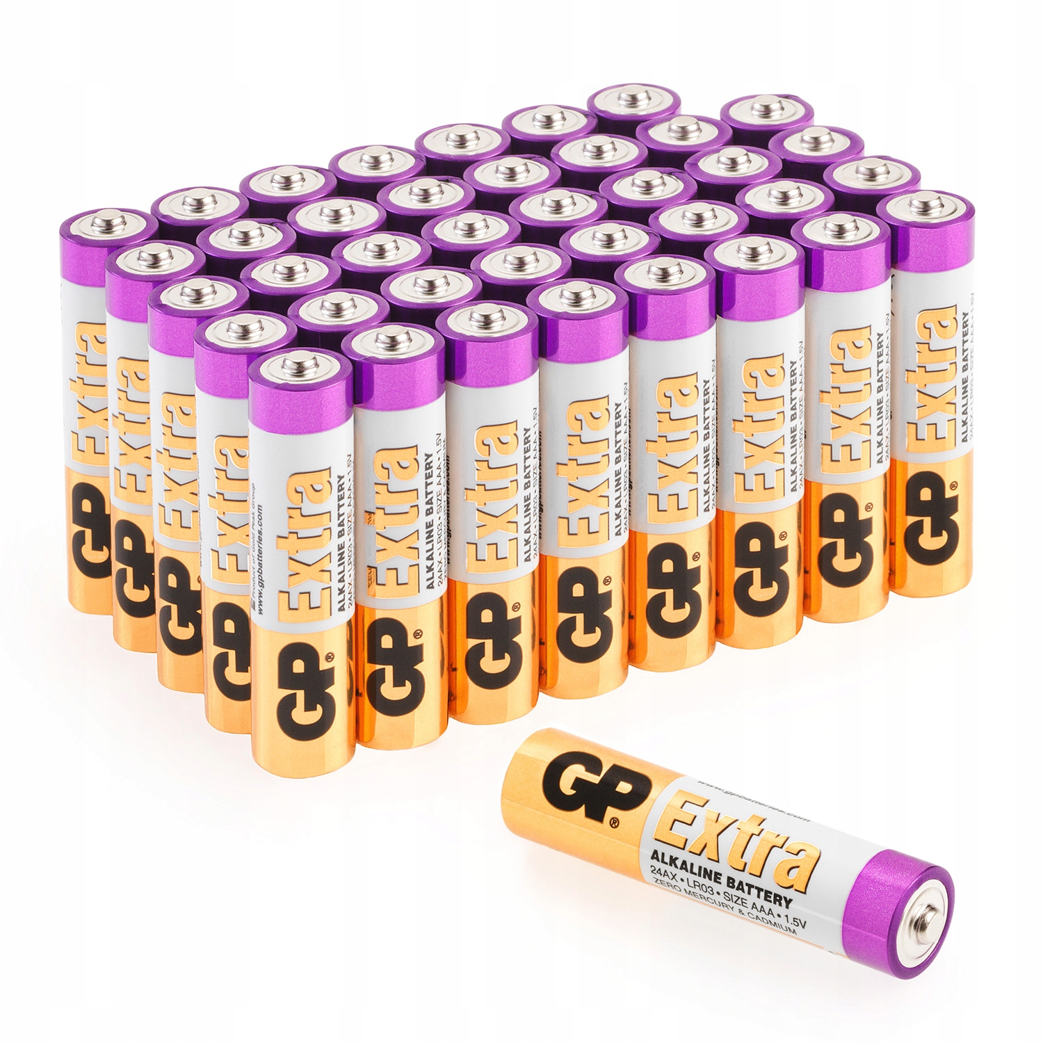 Item EXTRA 40 x GP ALKALINE AAA battery R3 1,5 V STRONG