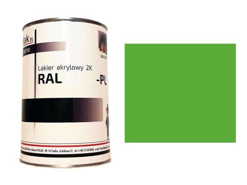 Lakier Akrylowy 2K RAL 6018 ŻÓŁTY ZIELONY 1 L