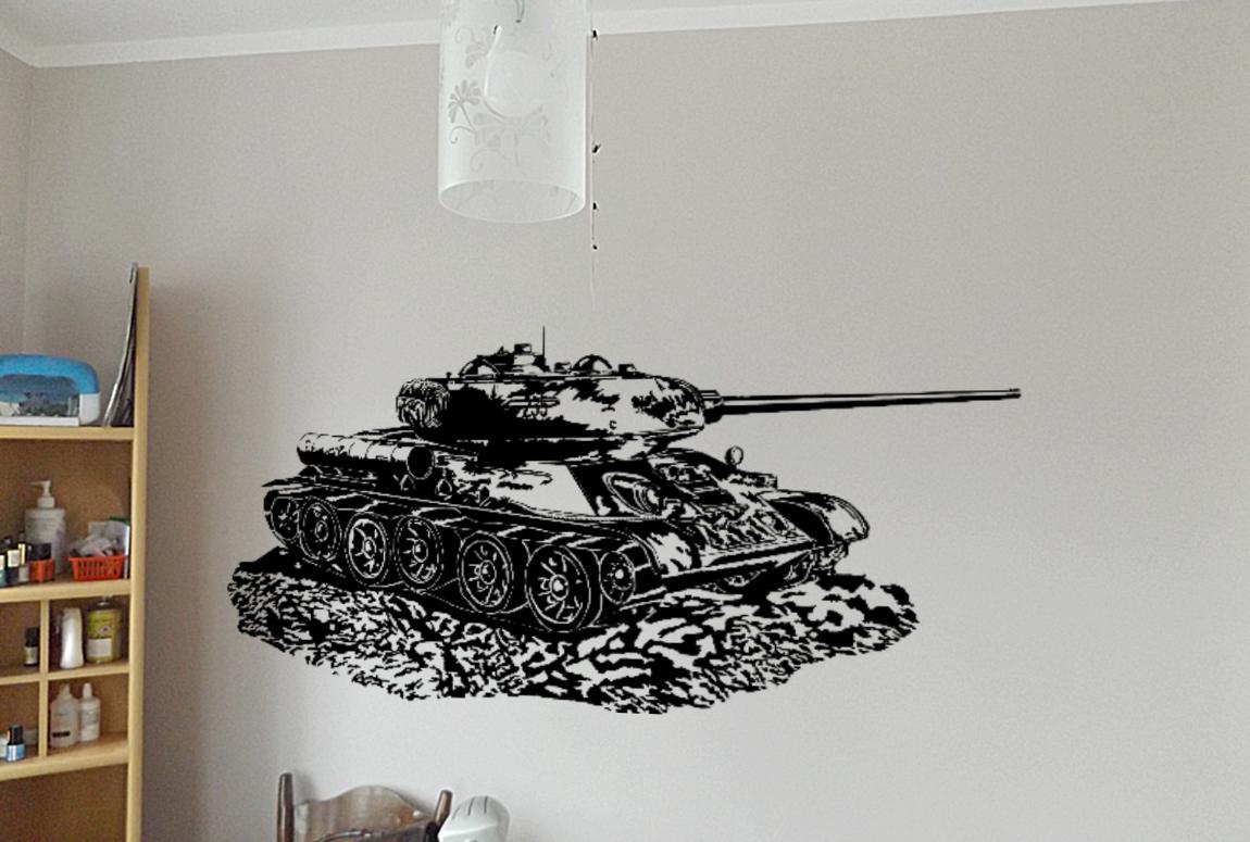 Naklejka T34 czołg legenda 130x50 cm na ścianę 03