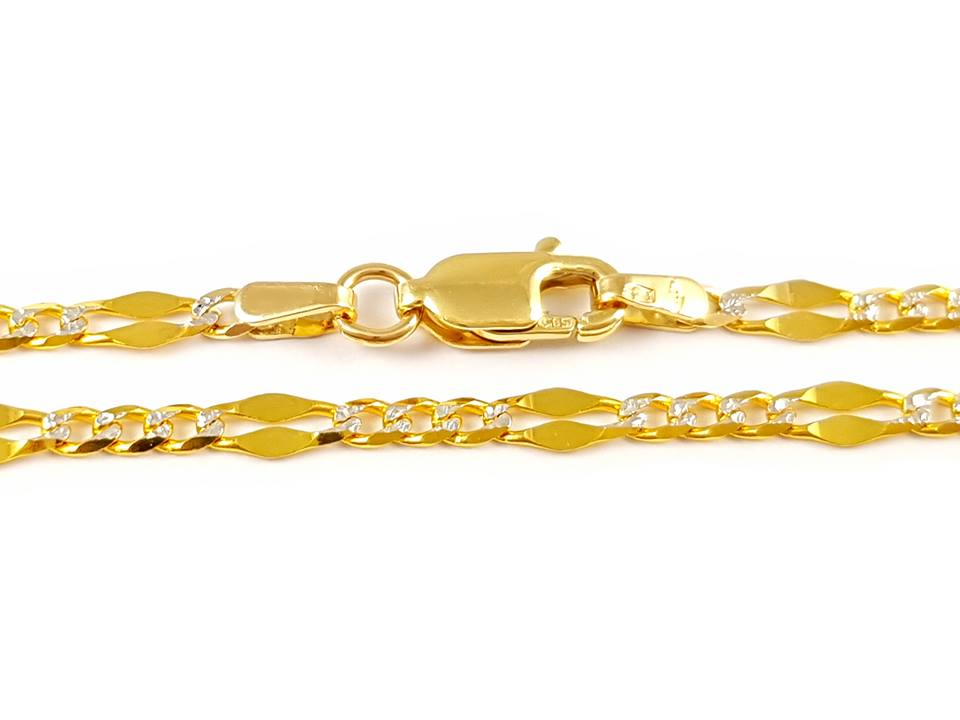"""Reťaz žena """" žlté a biele zlato krásne 14K"""