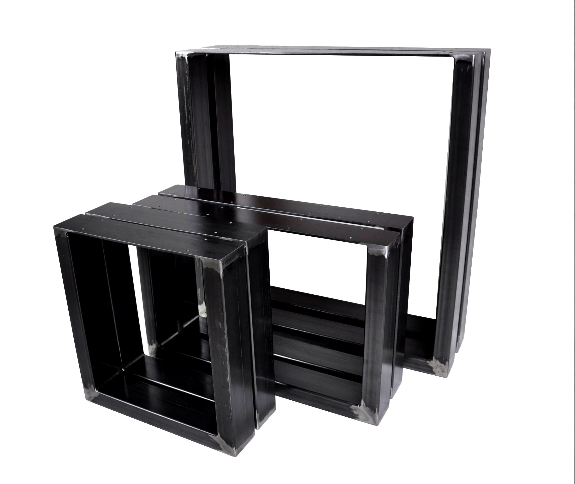 2 x kovové rámy pre priemyselný stôl 90x72 cm