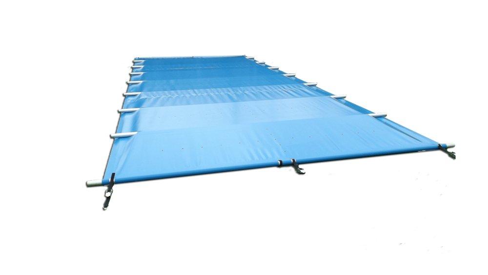 Zakrytie bazéna 9,5 m x 3,7 m bezpečná zima