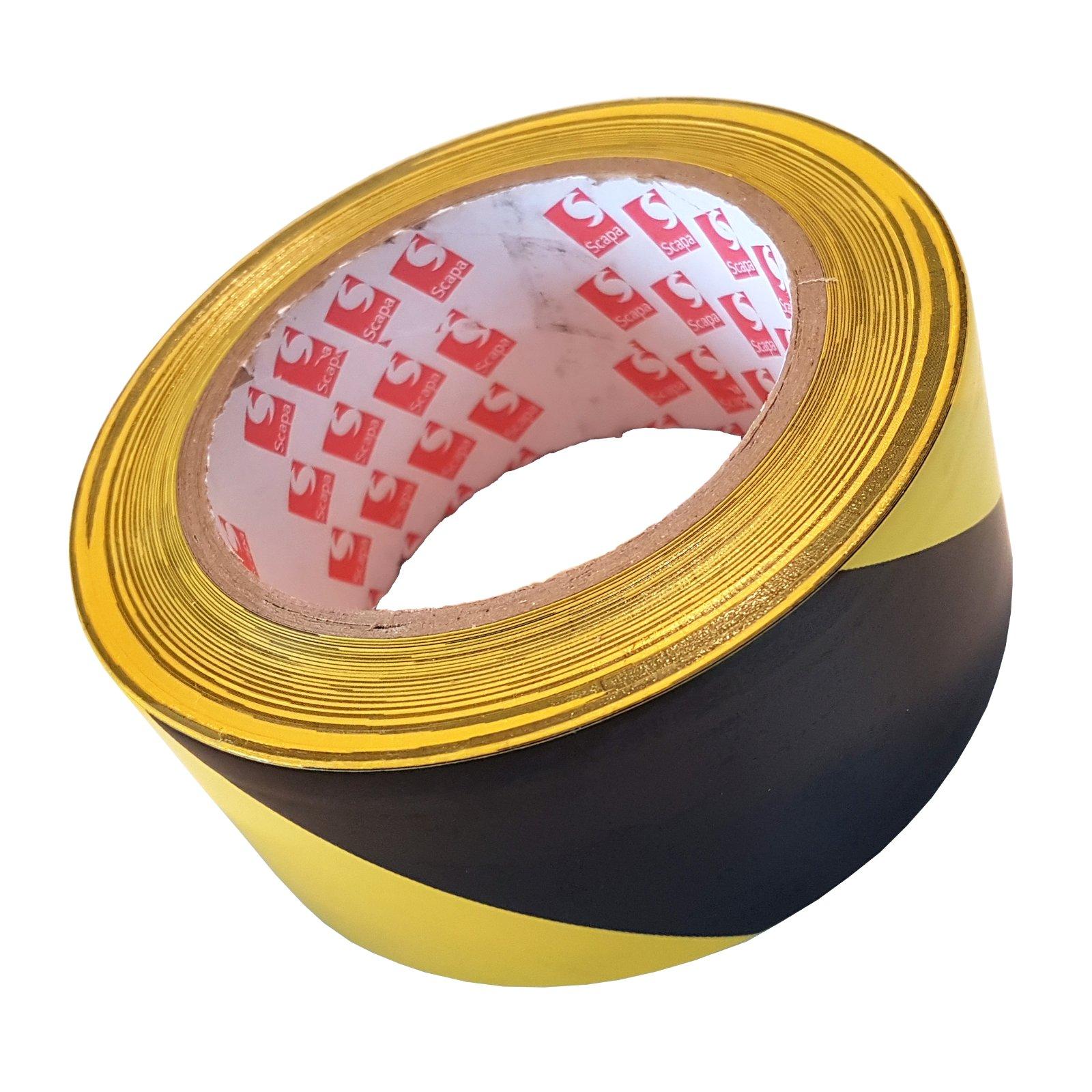 Лента защитная маркировочная Scapa 2724 50мм / 33м желто-черная