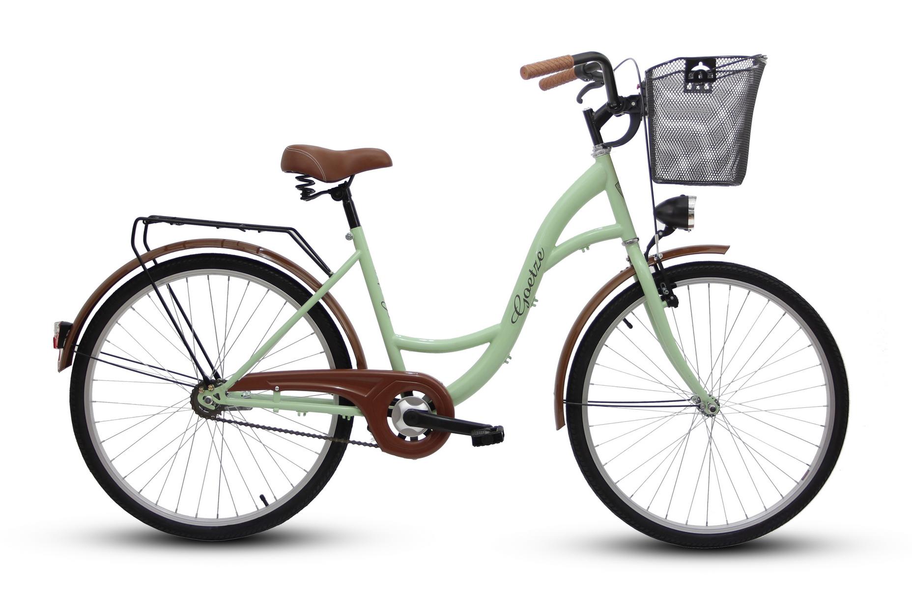 Dámsky mestský bicykel GOETZE 26 eco lady + košík !!!  Chýbajú odpisy
