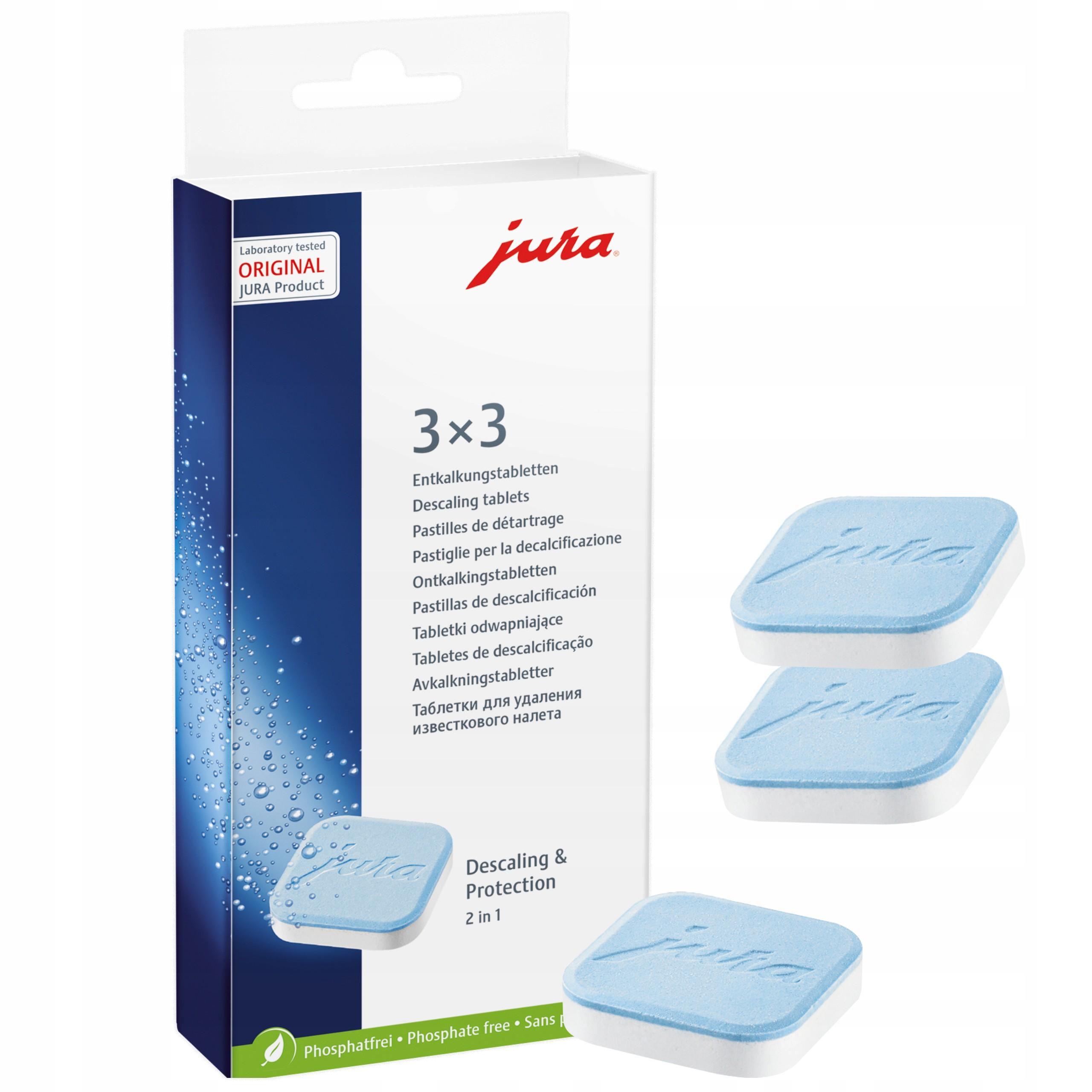 Tabletki odkamieniające JURA 9 szt ORYGINAŁ