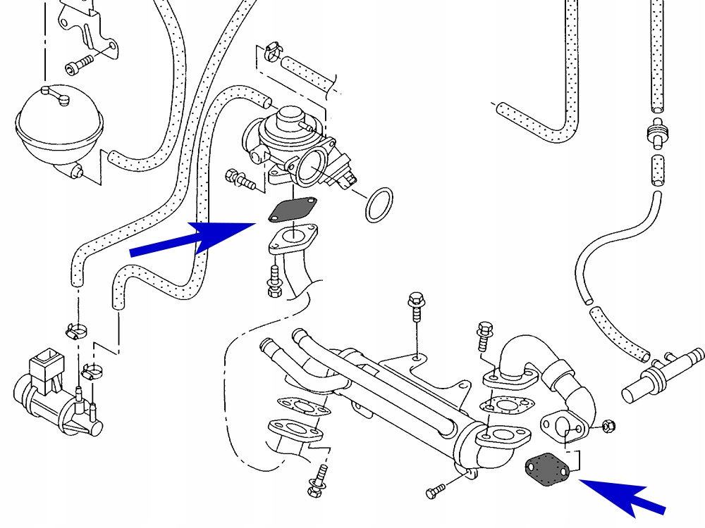 17. Zestaw zaślepek EGR 1.9 TDI VW Audi Skoda Seat
