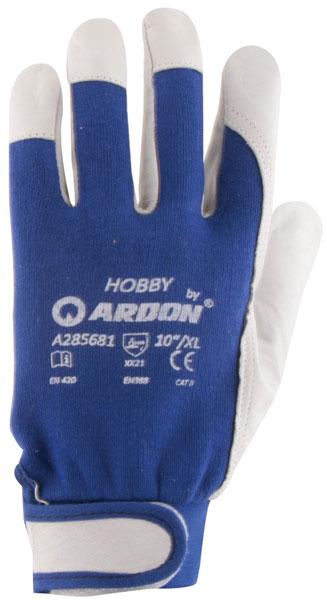 Rękawice Robocze Ochronne Z Koziej Skóry Hobby r10