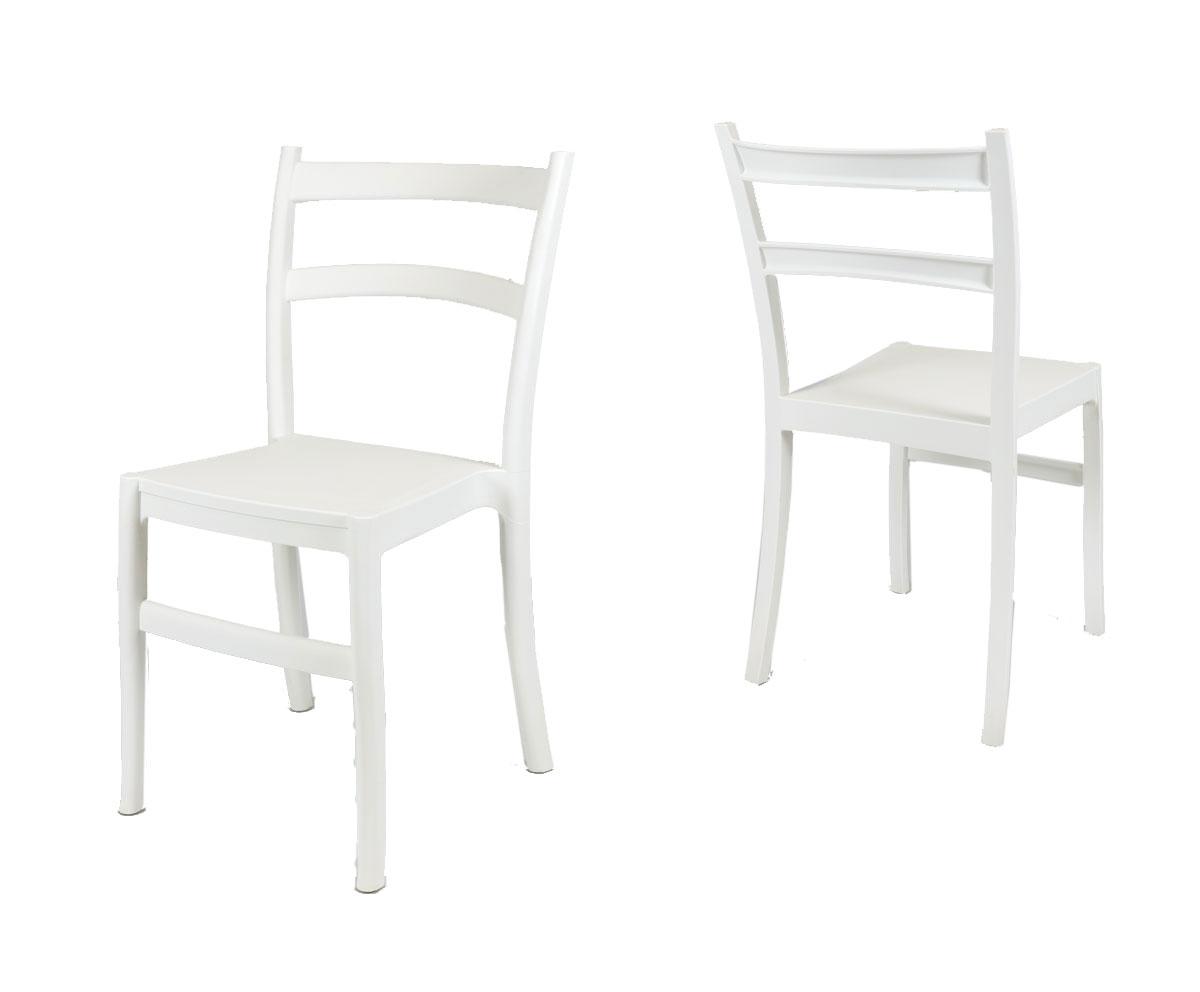 Biele stoličky nábytok KR032 B NOVINKOU RETRO