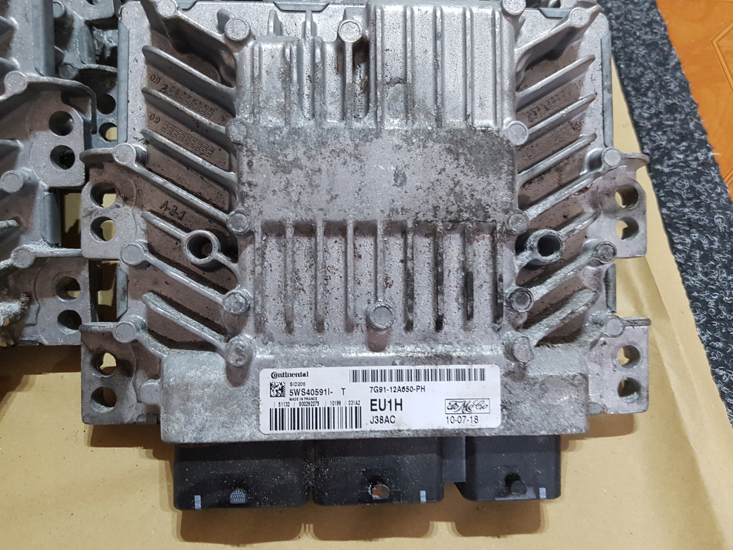компьютер двигателя mondeo mk4 18 7g91-12a650-ph