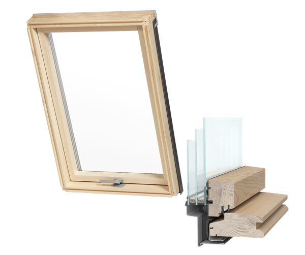 Мансардное окно 3-х оконное 78x140 AAY + фланец