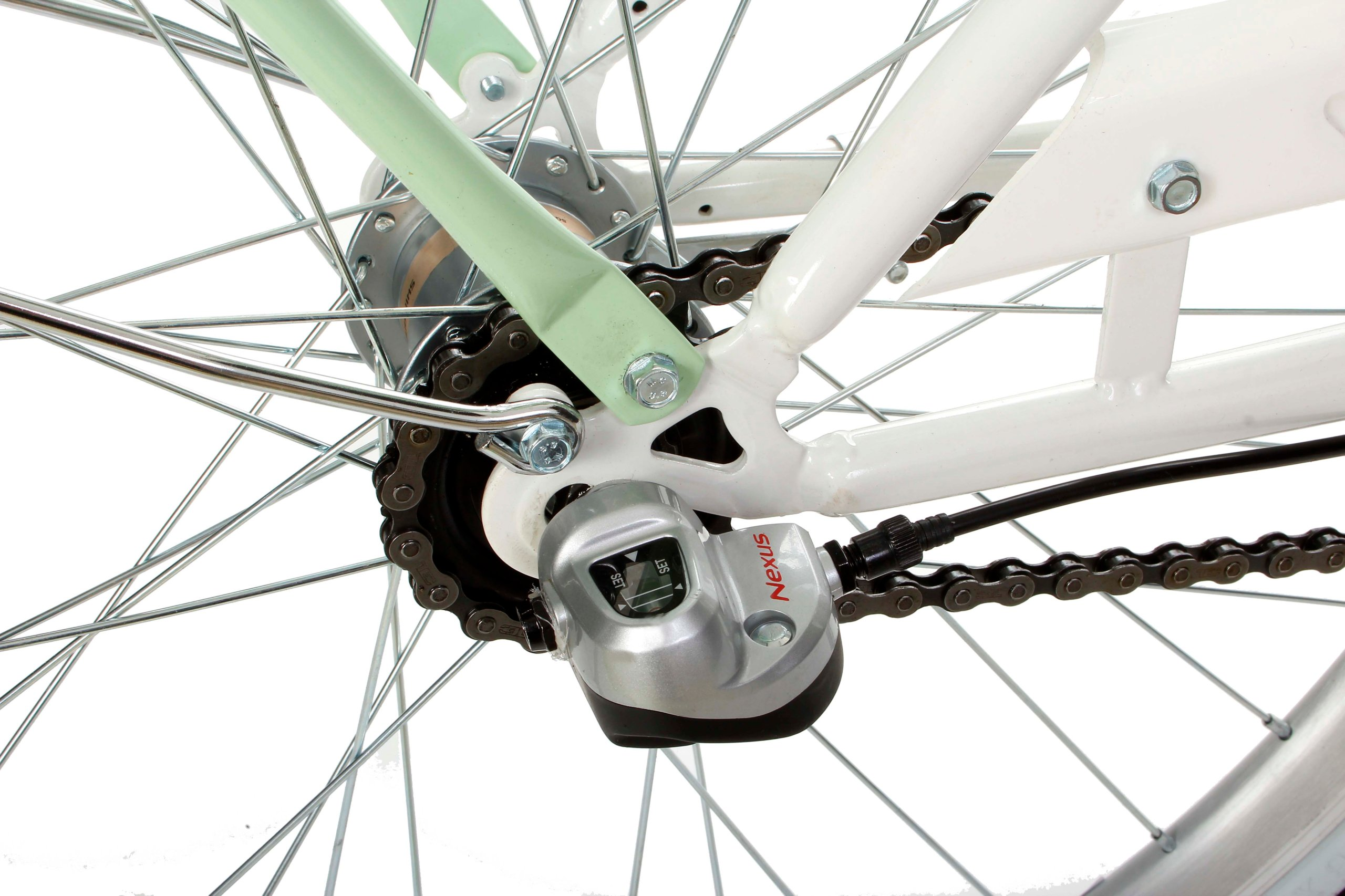Dámsky mestský bicykel Goetze BLUEBERRY 26 3b košík!  Dodatočná kompletácia, stojan, blatníky, kôš, noha, kryt reťaze