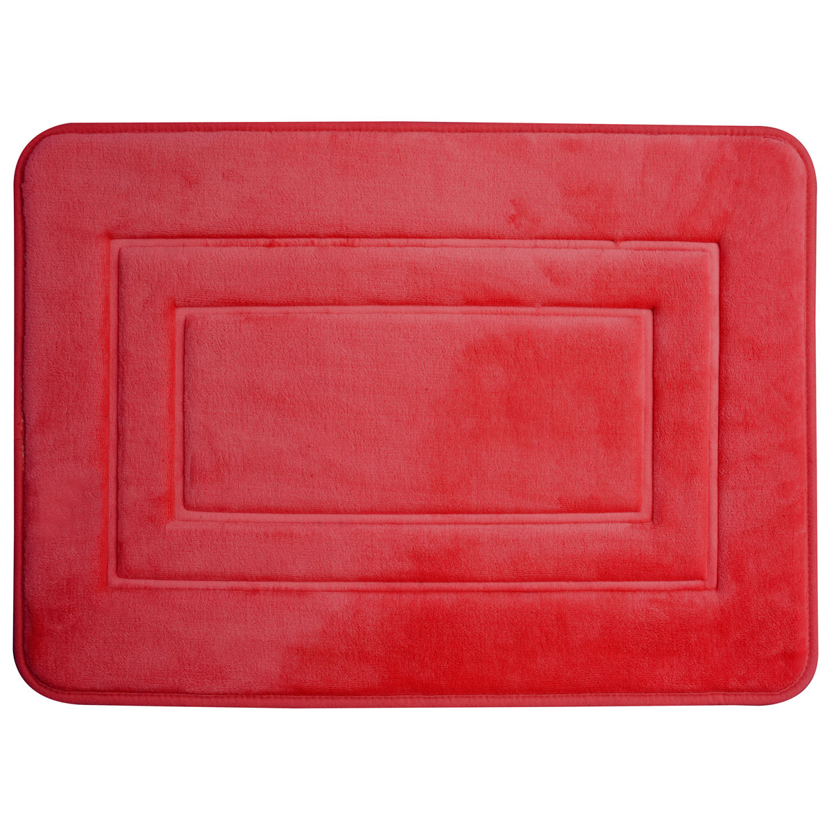 Super mäkká kúpeľňa koberec 40x60 San červená