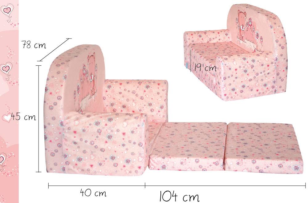 Detská pohovka Mini-pohovka matrac kreslo Šírka 78 cm