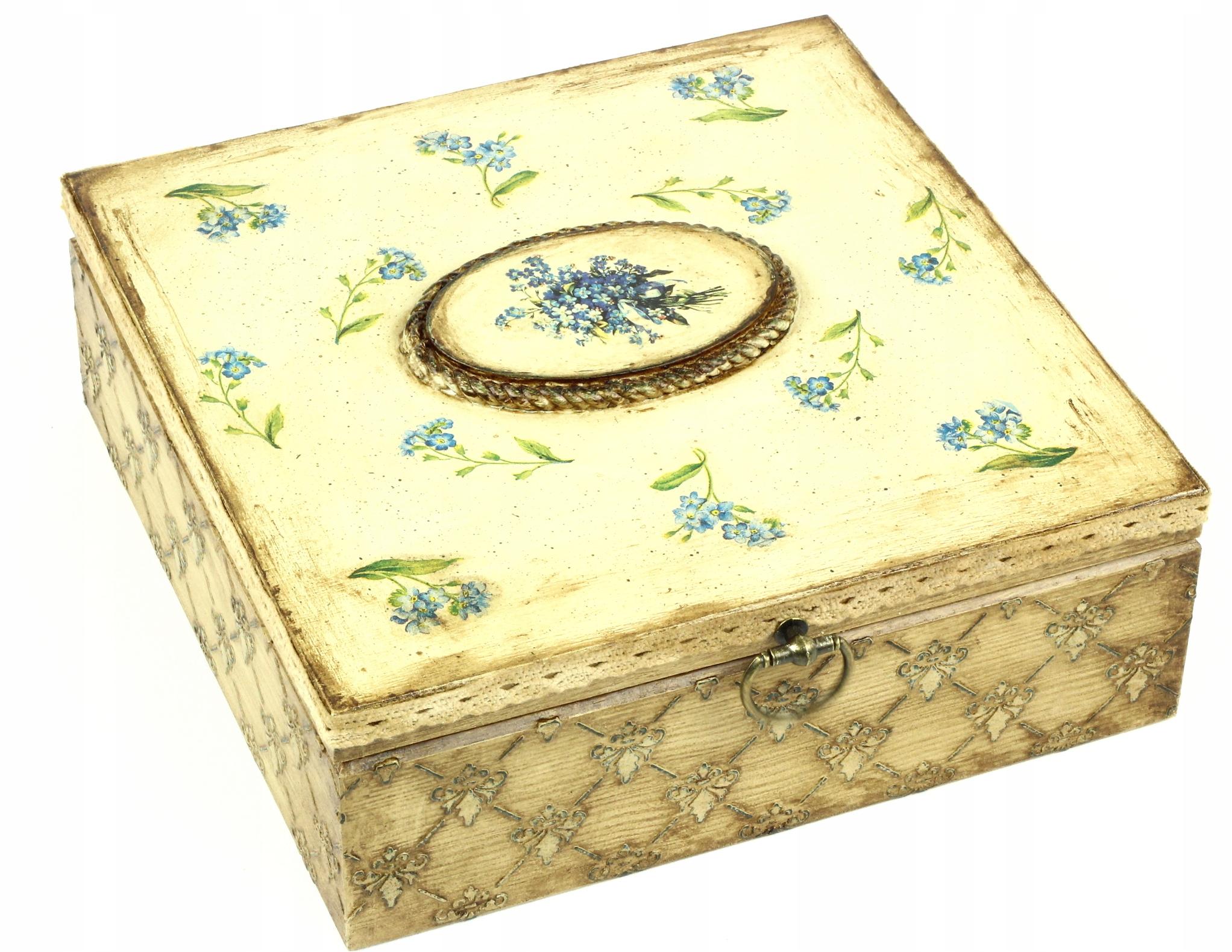 Retro Antik Box Šperky Box Zabudnúť-Mi-Nie