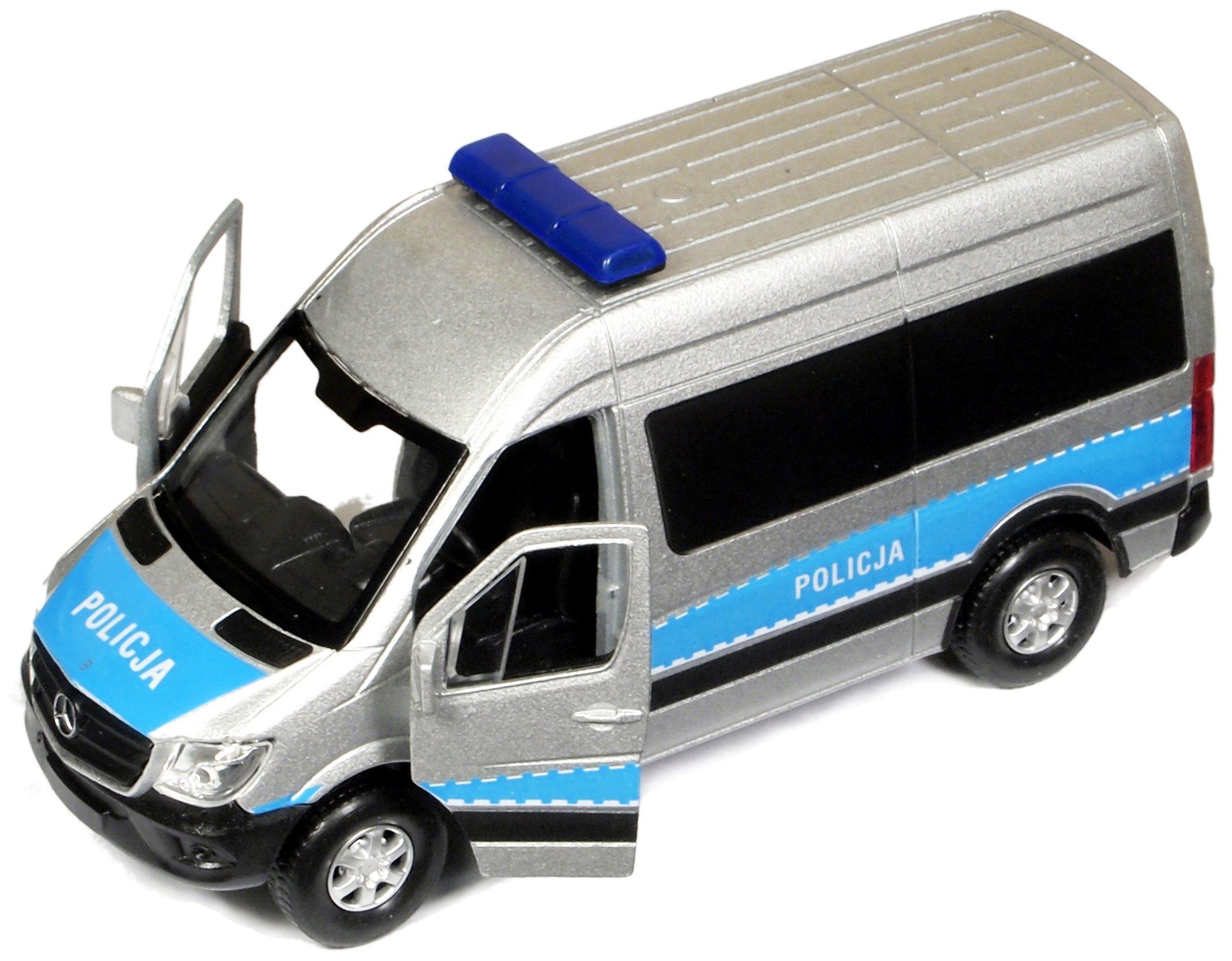 Kovový model Mercedes Sprinter Panel van Polícia