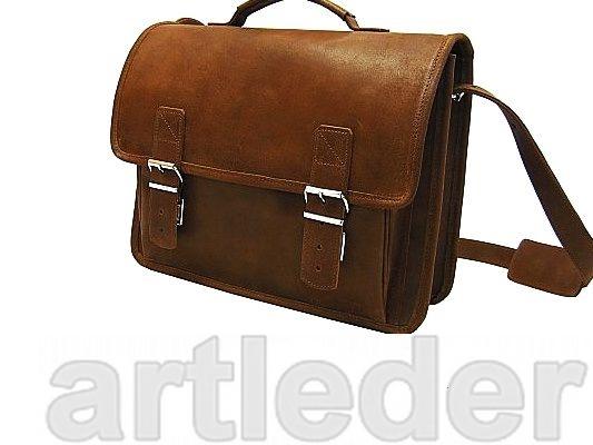 Kožená taška retro kožená aktovka poľský VÝROBCA
