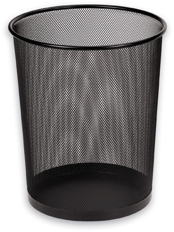 Item GARBAGE BASKET office mesh metalowa19L
