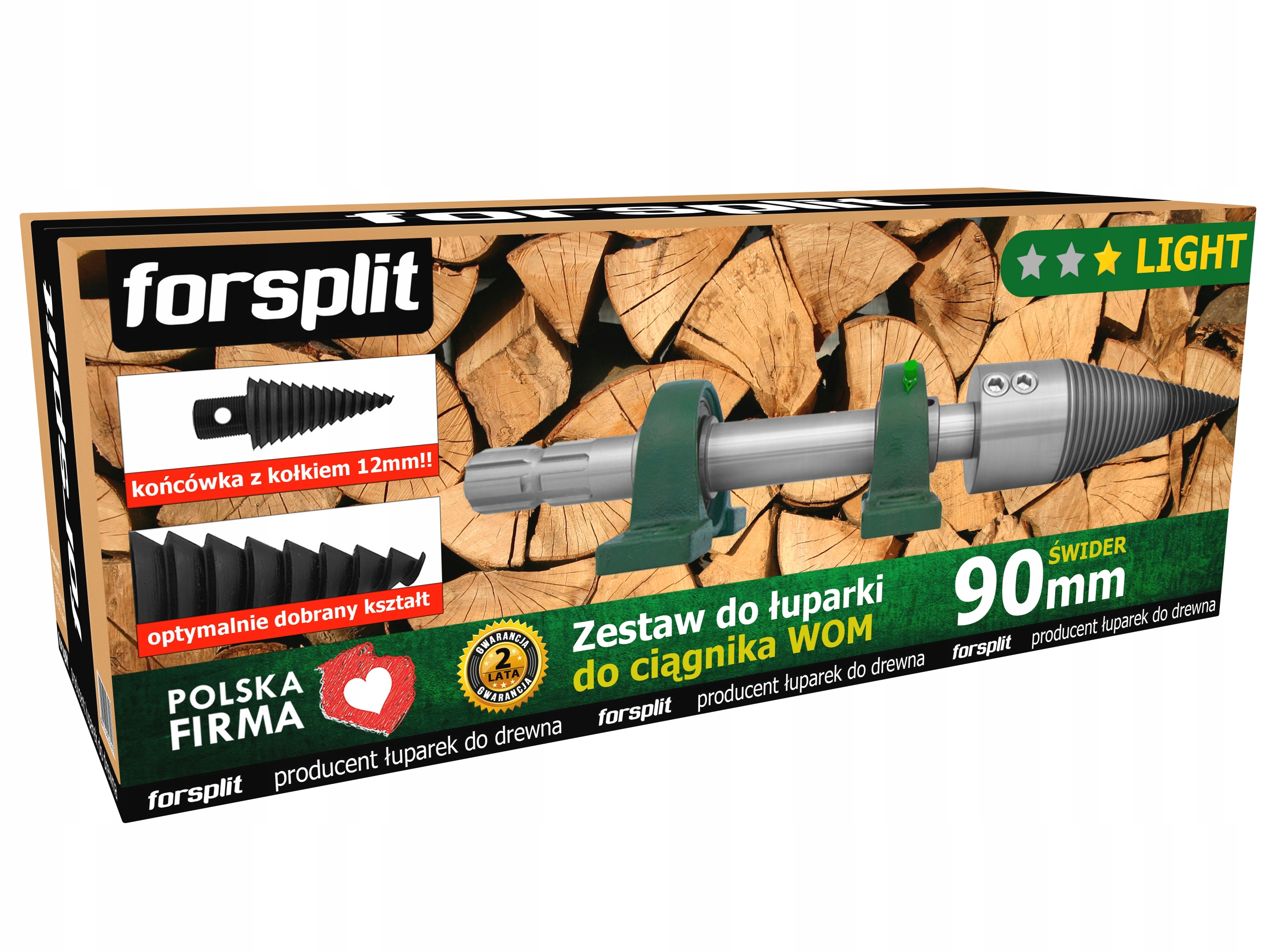 Splitter dreva 90mm pre traktor (PTO)