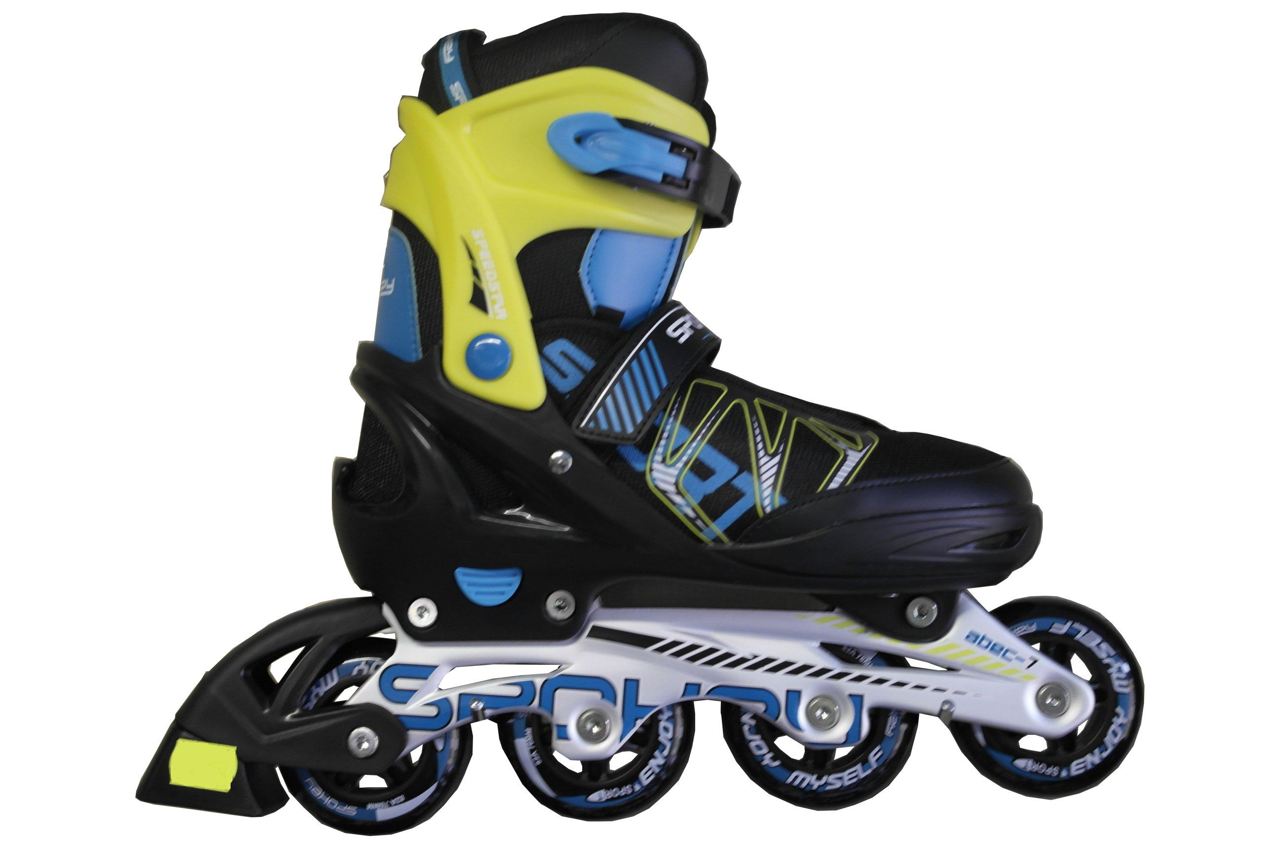Detské kolieskové korčule Spokey SPEEDSTAR 33-36 ČIERNE