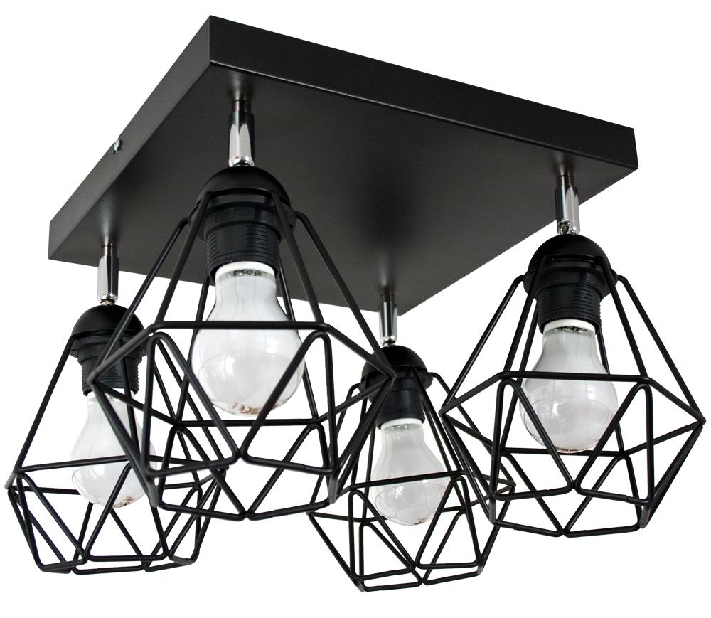 Stropné lampy / prívesok DIAMOND lampa 4 vintage žinku