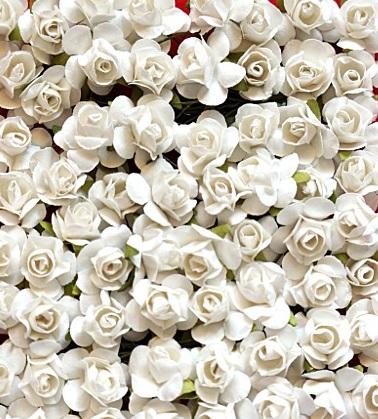 Купить M13 Бумажные цветы на проволоке диам. 2 см/36шт, 3kol на Otpravka - цены и фото - доставка из Польши и стран Европы в Украину.