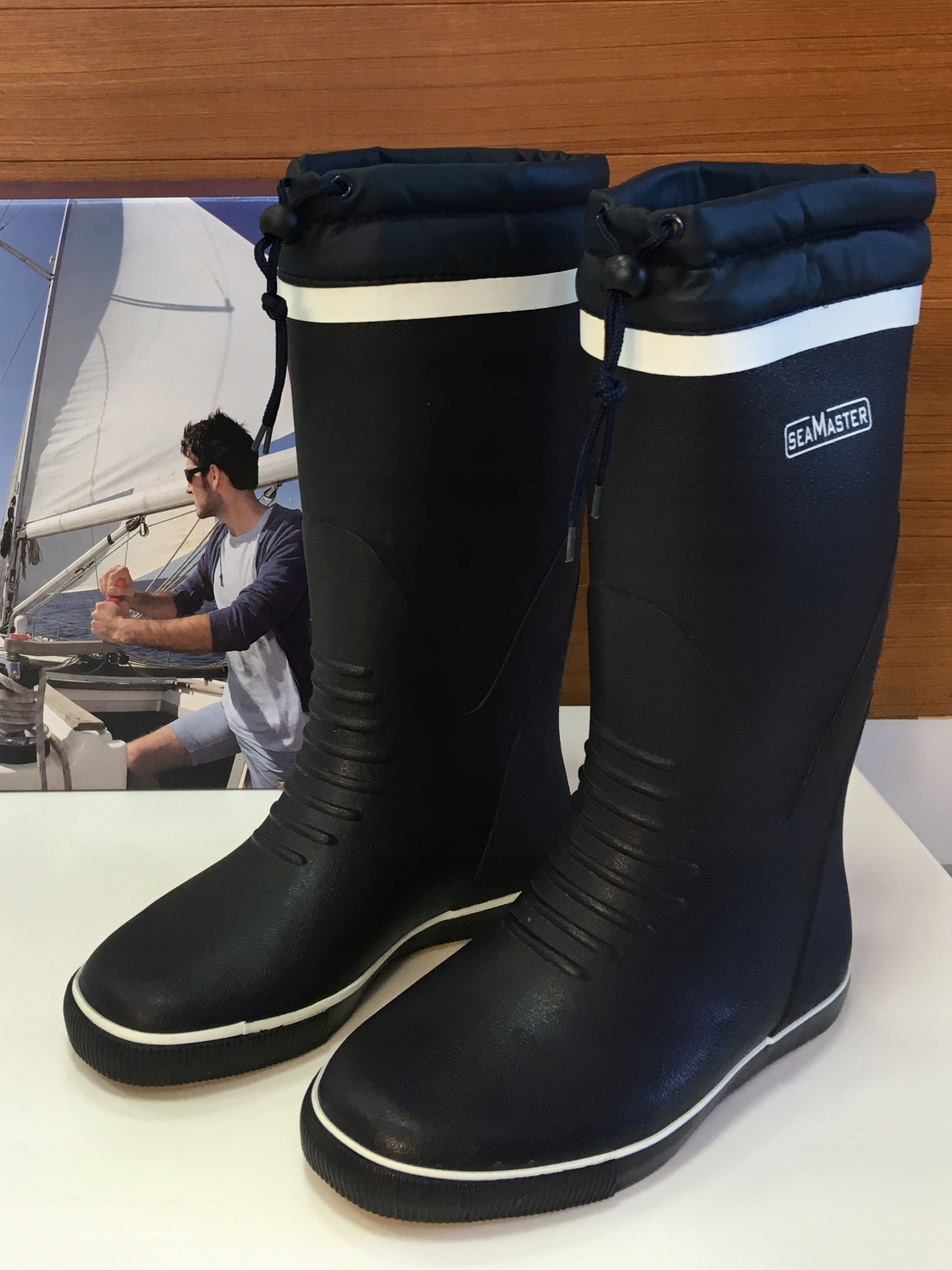 Gumené topánky Plachtenie SEAMASTER Dlho Nerovnomerná R. 38