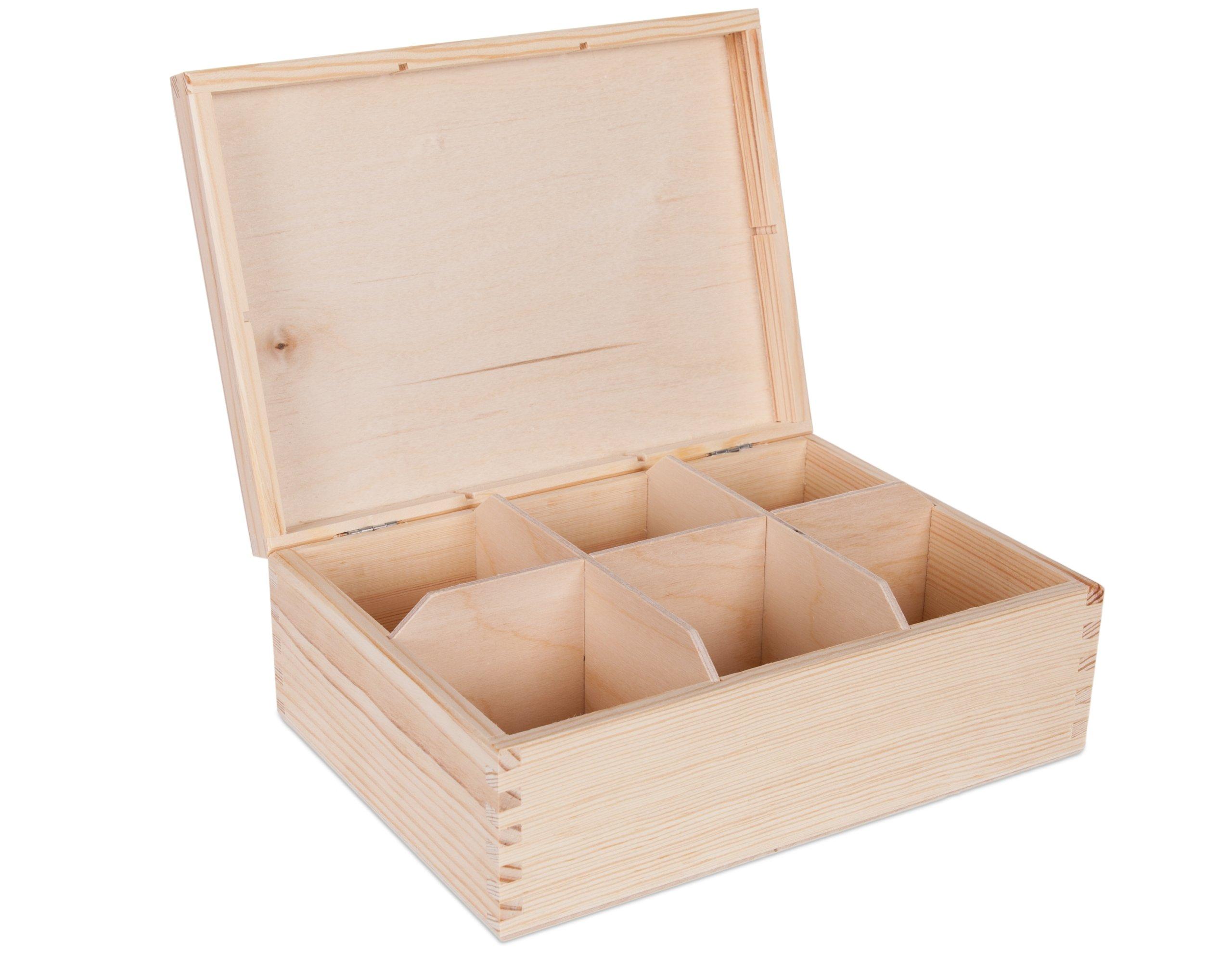 Darčeková krabička šperky Skrinka 6 Drevené priestory