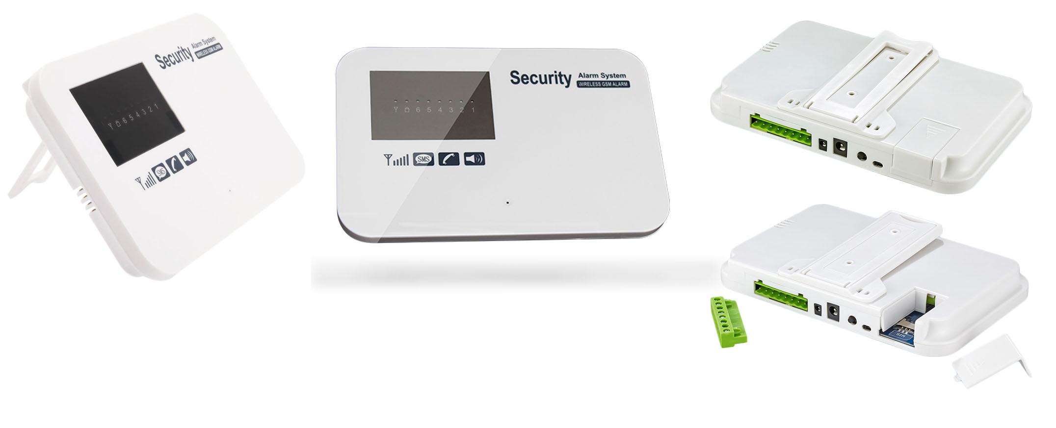 KOMPLETNY BEZPRZEWODOWY ALARM GSM 3 CZUJKI +SYRENA Typ alarmu Bezprzewodowy