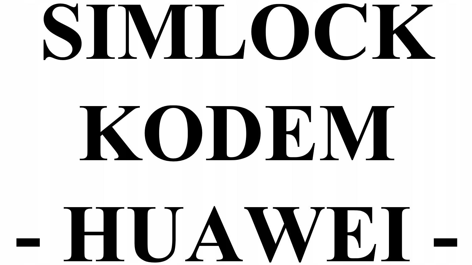 Item HUAWEI UNLOCK CODE ALL NETWORKS