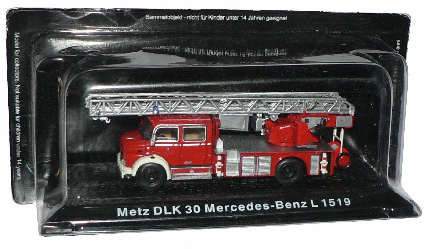 Hasičské vozidlo 1:72 METZ DLK 30 MERCEDES-BENZ L1519