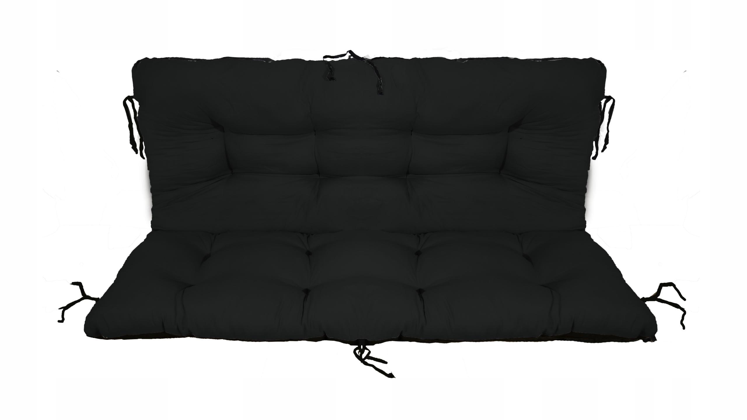 Подушка для садовой качели 120x60x50 чёрная