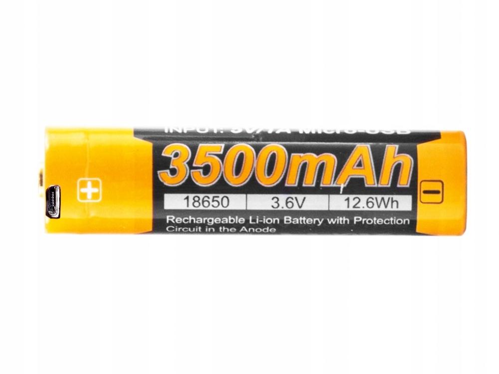 USB batérie FENIX ARB-L18U 18650 3500 mAh 3.6 V