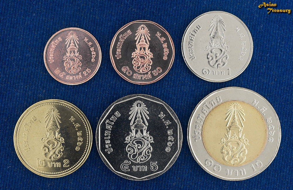 TAJLANDIA zestaw 6 monet