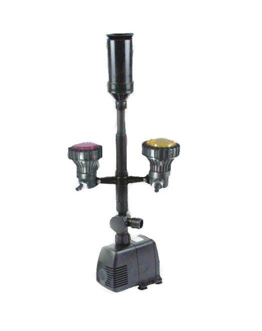 Pompa fontannowa 1800l/h + kaskada+oświetlenie