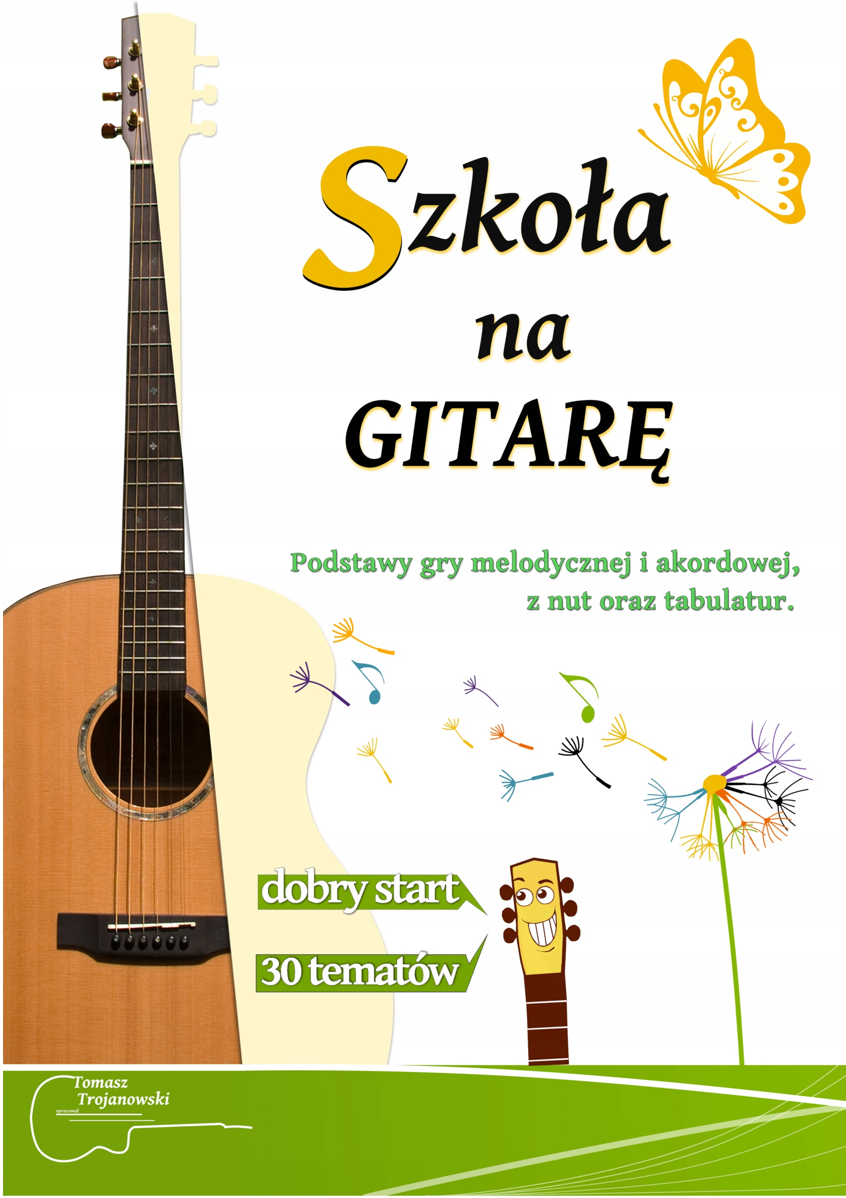 Item School, teaching manual for guitar. Notes, chords, tab.
